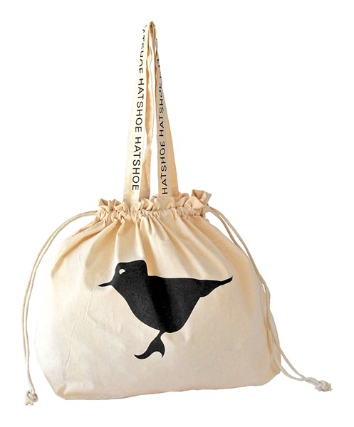 Hatshoe drawstring bag with logo